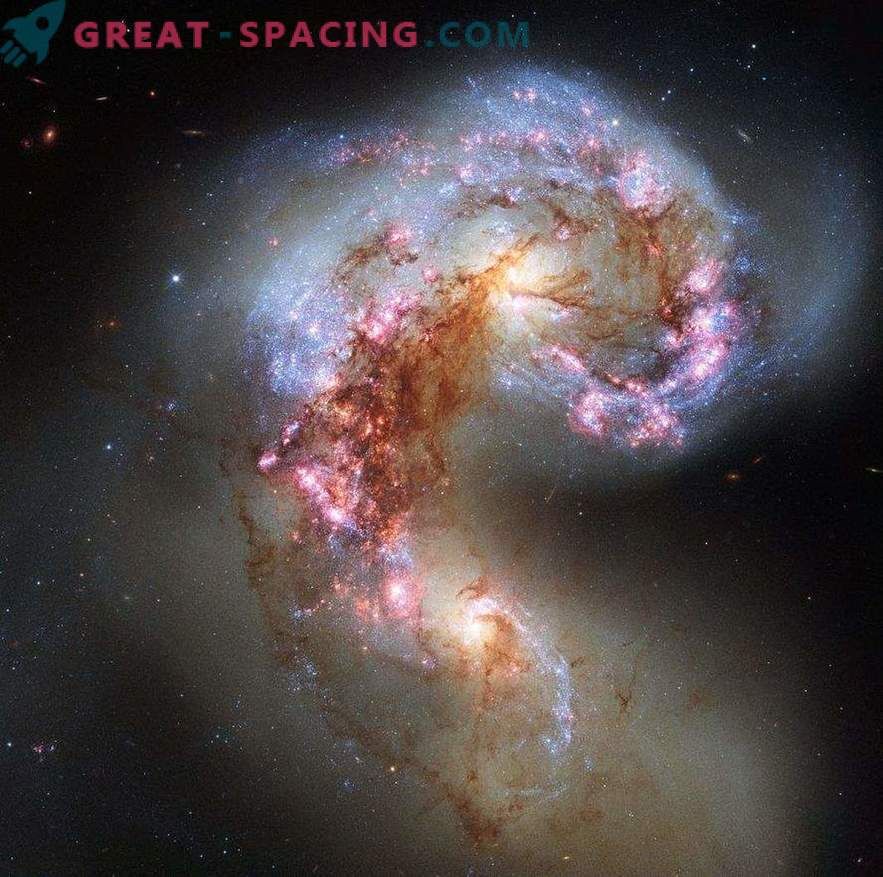 Gas shake-up in a galactic collision