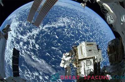 Stunning view from space station