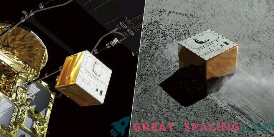 Japanese landing gear MASCOT touched the asteroid surface Ryugu