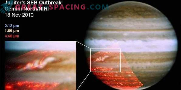 """""""Juno"""" in the month from Jupiter: photo"""