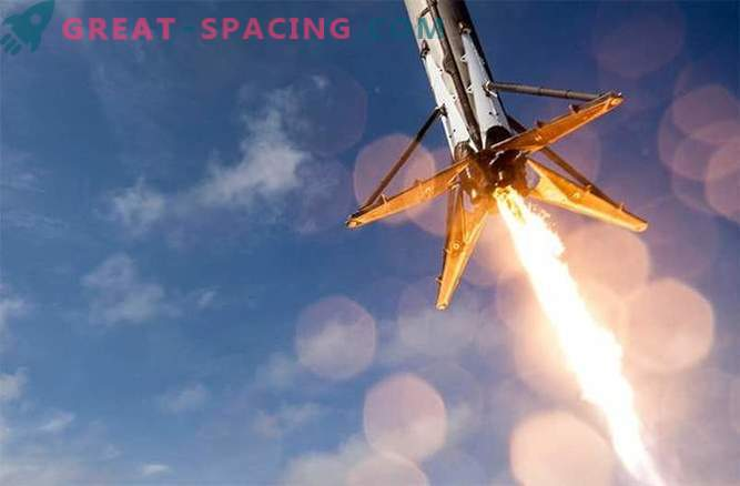 The following landing in the ocean is possible for SpaceX
