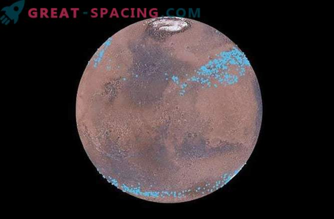Glaciers under the surface of Mars abound in water