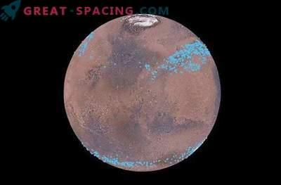 Ledeniki pod površjem Marsa imajo veliko vode