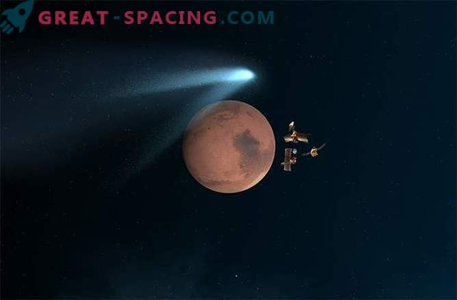 Martian spacecraft reported about their close encounter with a comet