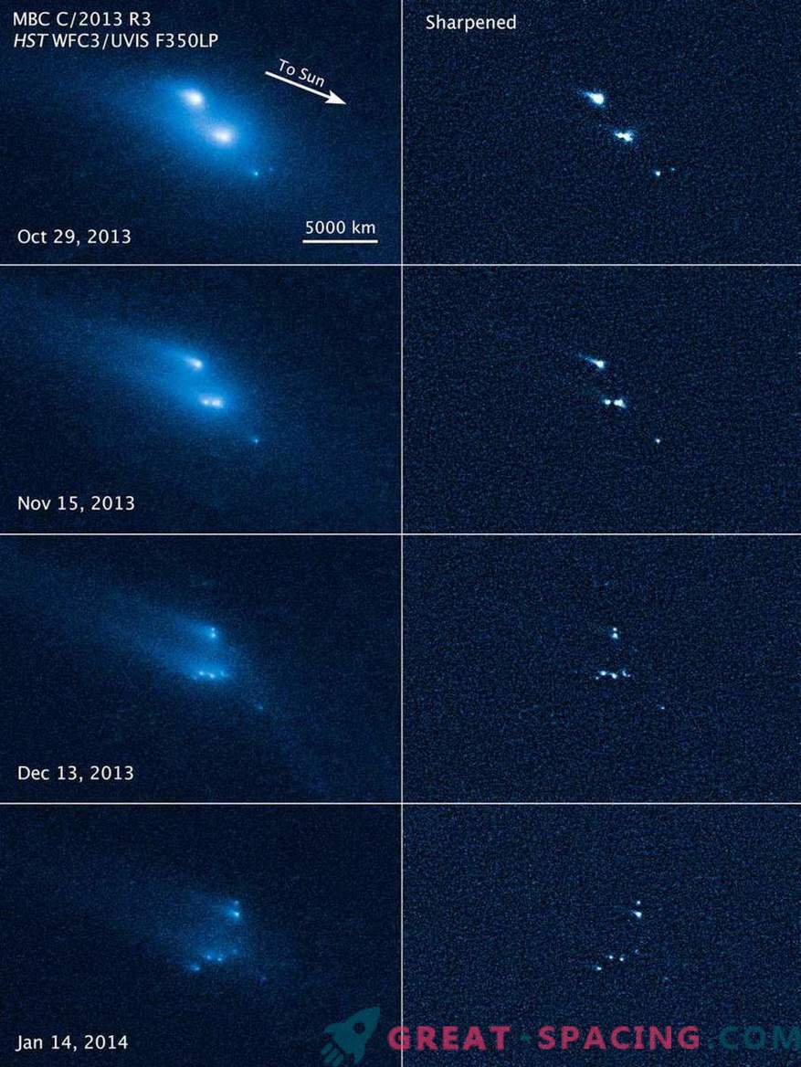 Hubble witnessed the mysterious collapse of an asteroid