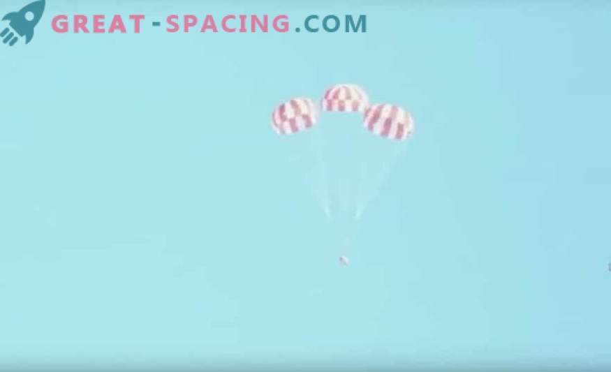 Orion passes the final parachute test before the lunar flight