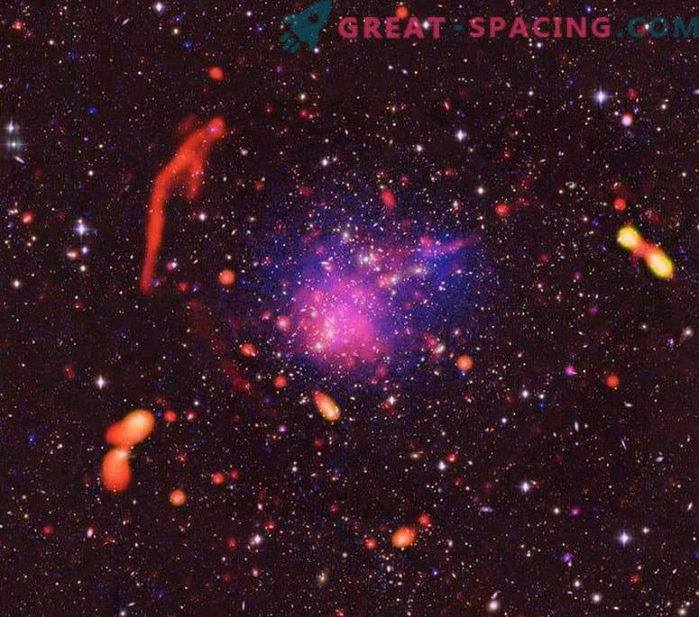 Amazing collision results of galactic clusters