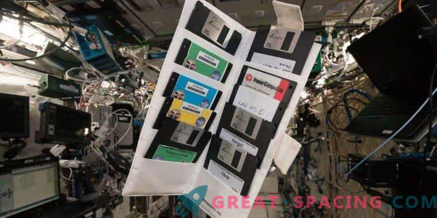 Old floppy disks in the forgotten locker of the ISS