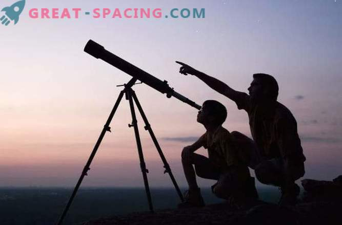 What can be seen with the home telescope