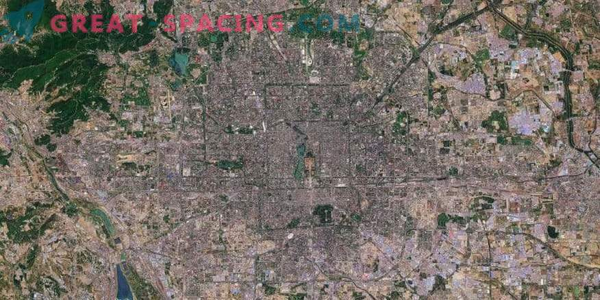 Beijing in the Sentinel-2 satellite mapping