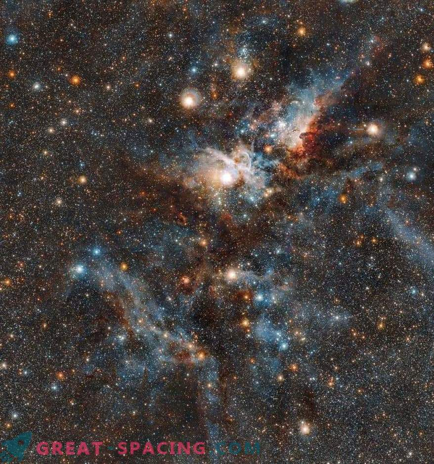 Bloody battle between the stars and dust in the Carina Nebula
