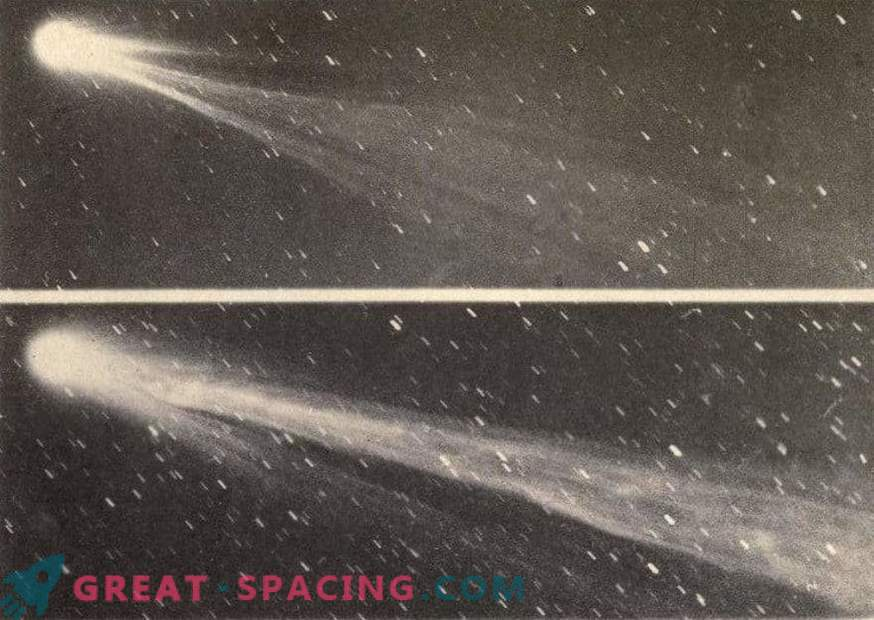 The warning tail of Comet Swift-Tuttle