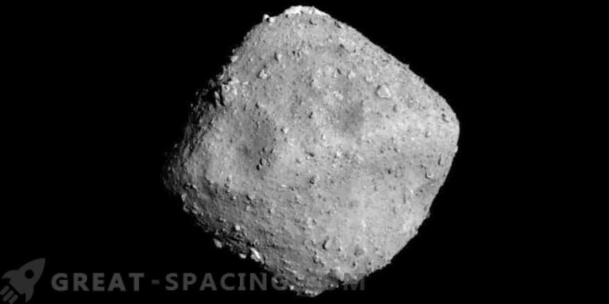 The spacecraft is preparing to shoot an asteroid