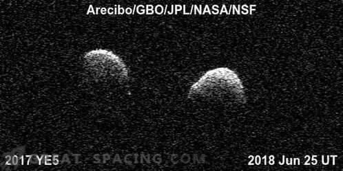 Observatories unite to study a rare double asteroid.