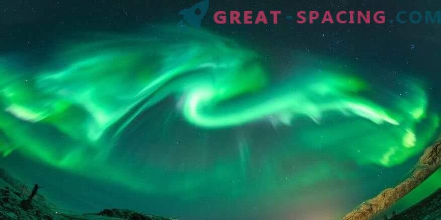 A dragon shone over Iceland