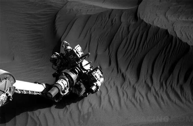 Curiosity is exploring the dunes of Mars: Photo