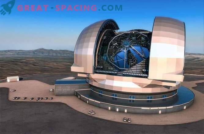Construction of the largest telescope in the world began