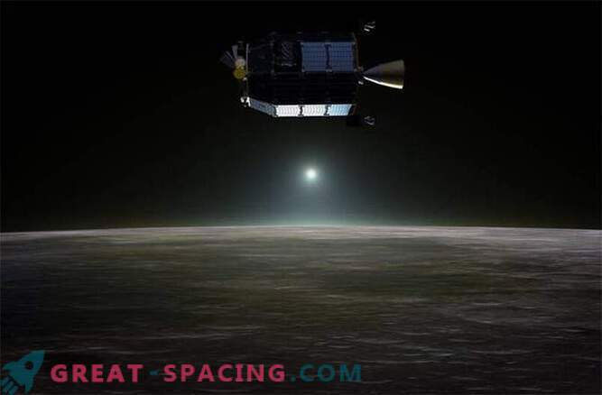 NASA probe showed that the moon is shrouded in neon