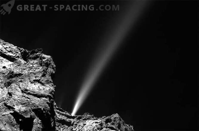 Comet Rosetta has thrown out the brightest jet today.