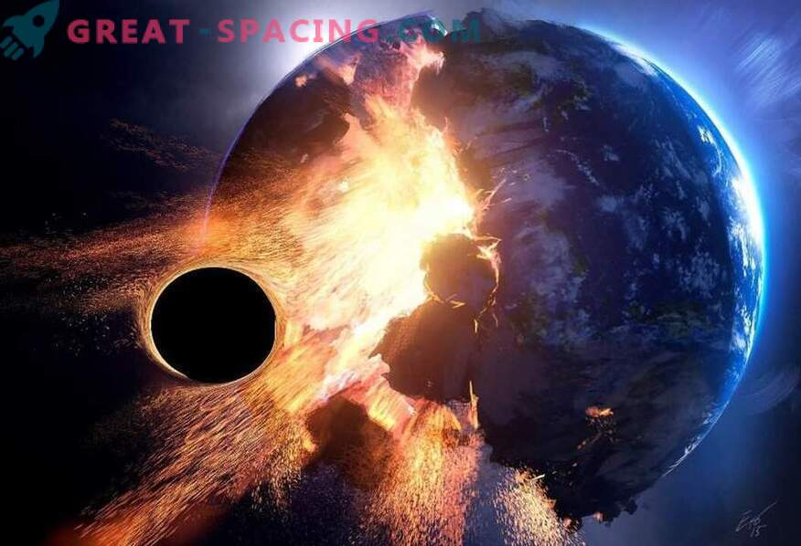 Can the Earth become a black hole